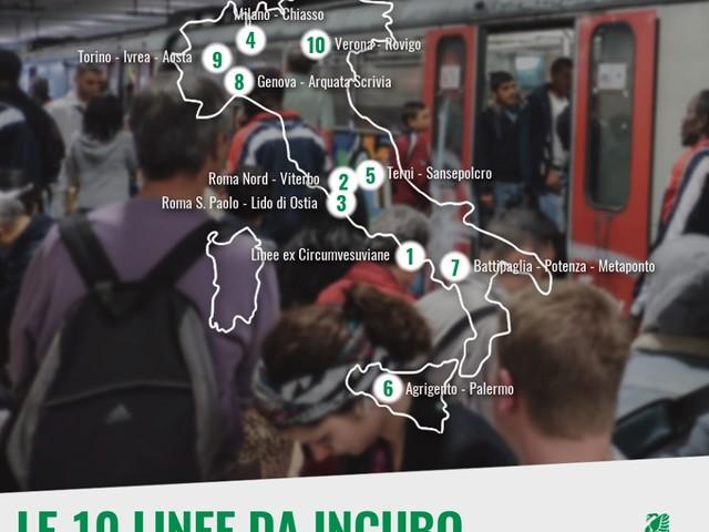 Pendolaria: le 10 linee ferroviarie peggiori d'Italia