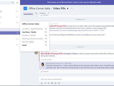 Microsoft Teams sfida Slack: costa meno e da anche il resto di Office365 Online