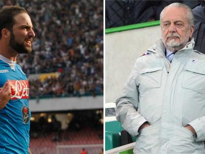 """De Laurentiis su Higuain: """"Ritorno? Se Ancelotti me lo chiedesse perché no!?"""""""
