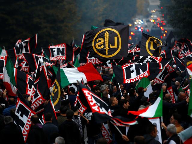 """Contro lo ius soli a Roma sfila l'orgoglio fascista di Forza Nuova. Fiore: """"Siamo cinquemila. Stiamo crescendo"""""""