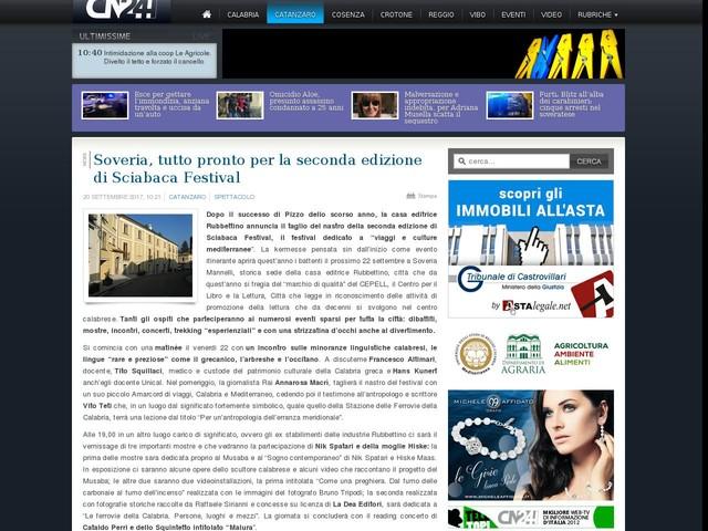 Soveria, tutto pronto per la seconda edizione di Sciabaca Festival