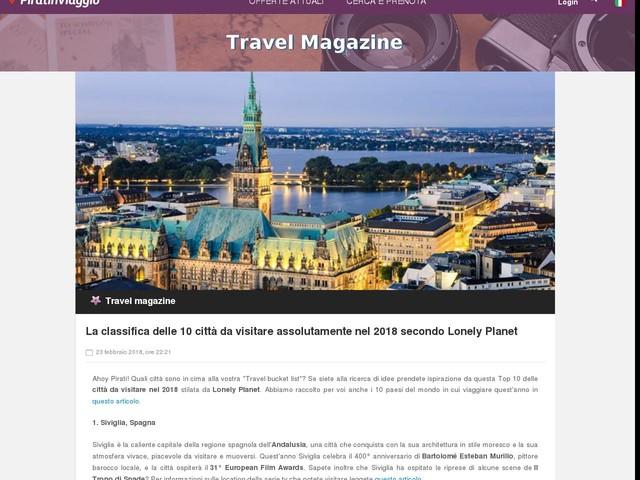 La classifica delle 10 città da visitare assolutamente nel 2018 secondo Lonely Planet