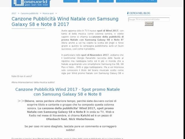 Canzone Pubblicità Wind Natale con Samsung Galaxy S8 e Note 8 2017