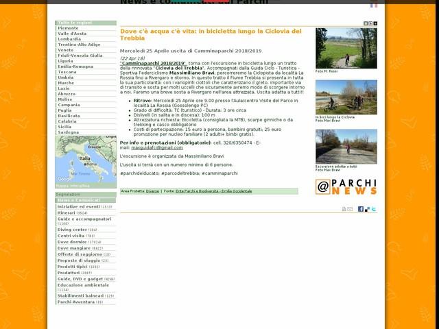 Ente Parchi e Biodiversità - Emilia Occidentale - Dove c'è acqua c'è vita: in bicicletta lungo la Ciclovia del Trebbia
