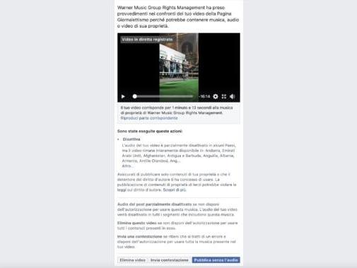 Il paradosso: Facebook consente di rivendicare la musica di sottofondo per i video live