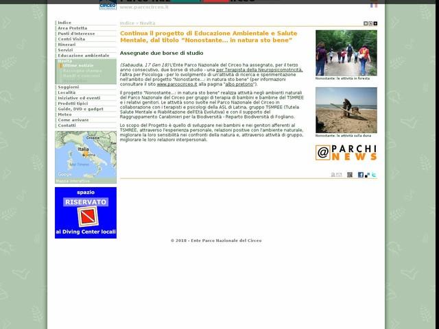 """PN Circeo - Continua il progetto di Educazione Ambientale e Salute Mentale, dal titolo """"Nonostante… in natura sto bene"""""""