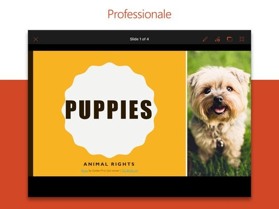 Microsoft PowerPoint gratis per iPad, iPhone e iPod Touch vers 2.8