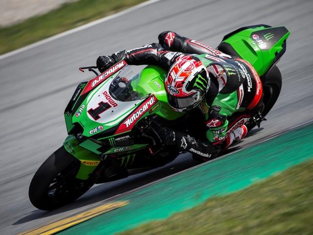 Rea e la nuova Kawasaki più veloci di Crutchlow con la Yamaha MotoGP ad Aragon!
