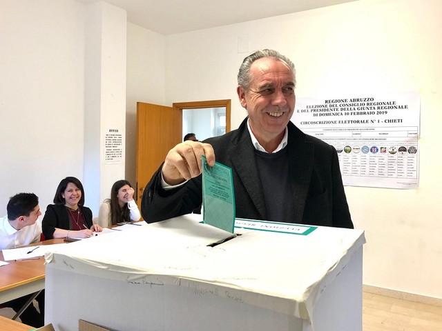 """Regionali Abruzzo, Legnini: """"Costruito il 30% in due mesi"""""""