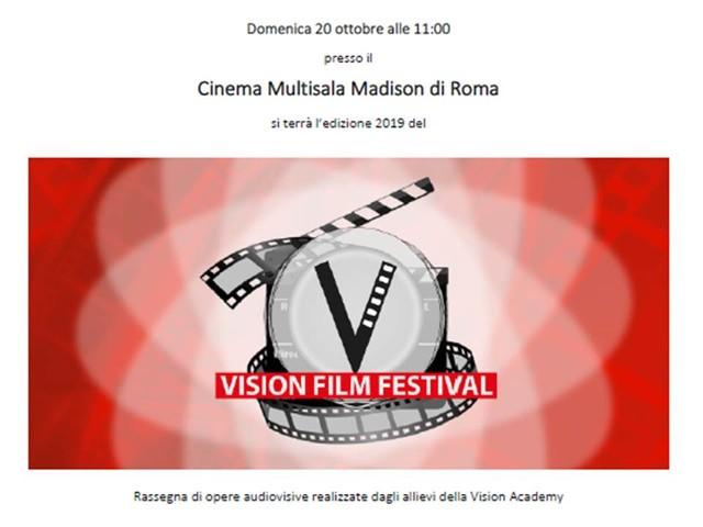 Roma 20 ottobre: Il Vision Film Festival 2019 al Cinema Multisala Madison