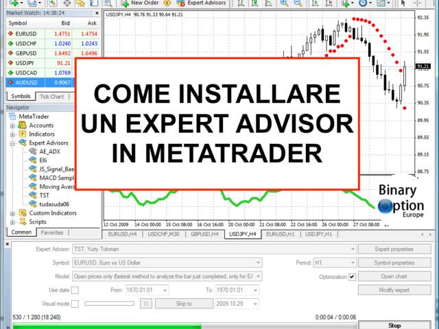 Come installare un Expert Advisor per Metatrader 4 (MT4)