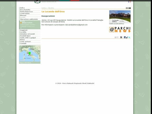 PR Monti Simbruini - La Locanda dell'Orso