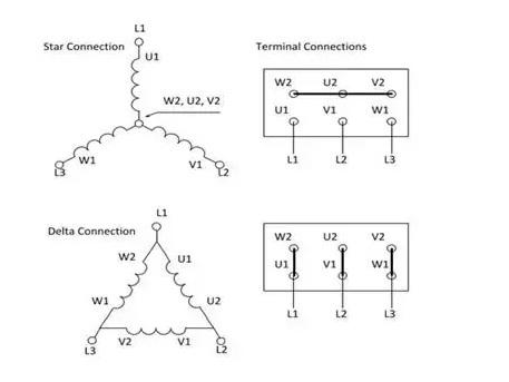 Phase Motor Wiring Diagram Delta Wye