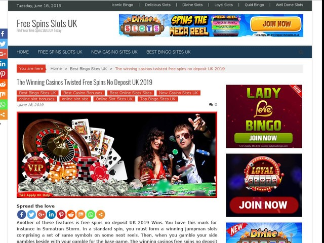 The Winning Casinos Twisted Free Spins No Deposit UK 2019