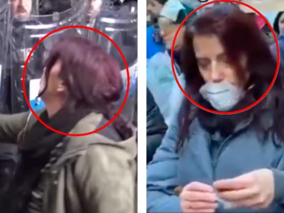 La donna che aveva insultato e umiliato i poliziotti ora è una sardina