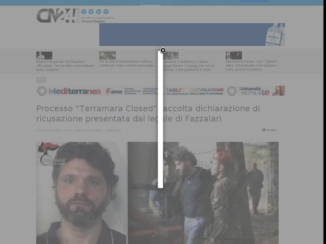 """Processo """"Terramara Closed"""": accolta dichiarazione di ricusazione presentata dal legale di Fazzalari"""