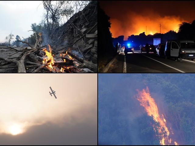 Incendi Sardegna, centinaia di sfollati nell'Oristanese: 10mila ettari bruciati. FOTO