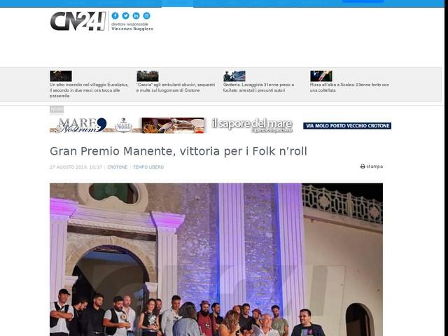 Gran Premio Manente, vittoria per i Folk n'roll