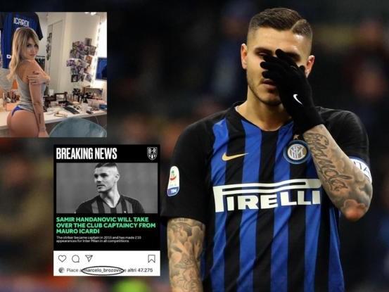 Icardi non convocato e Wanda Nara cancella la foto con la maglia dell'Inter
