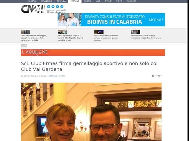 Sci. Club Ermes firma gemellaggio sportivo e non solo col Club Val Gardena