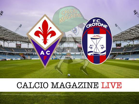 Fiorentina – Crotone: cronaca diretta live, risultato in tempo reale