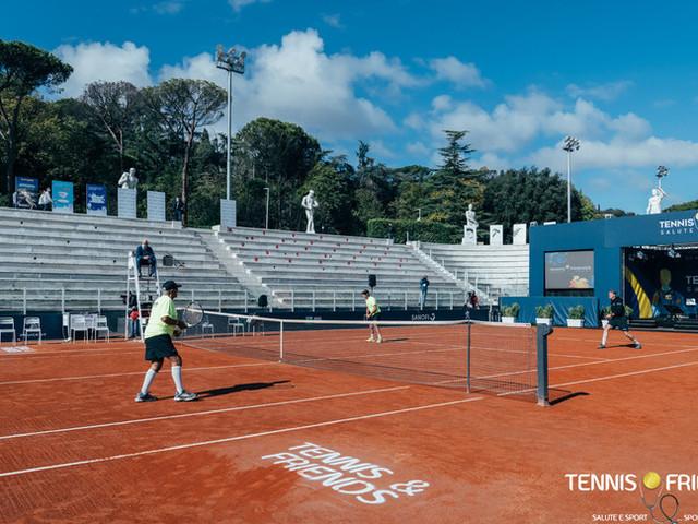 """Nella decima edizione di Tennis & Friends""""la prevenzione non va inlockdown"""""""