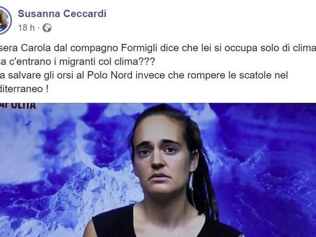 """L'eurodeputata della Lega Ceccardi attacca Carola Rackete: """"Cosa c'entrano i migranti col clima??? Non rompere le scatole e torna nel Mediterraneo!"""""""