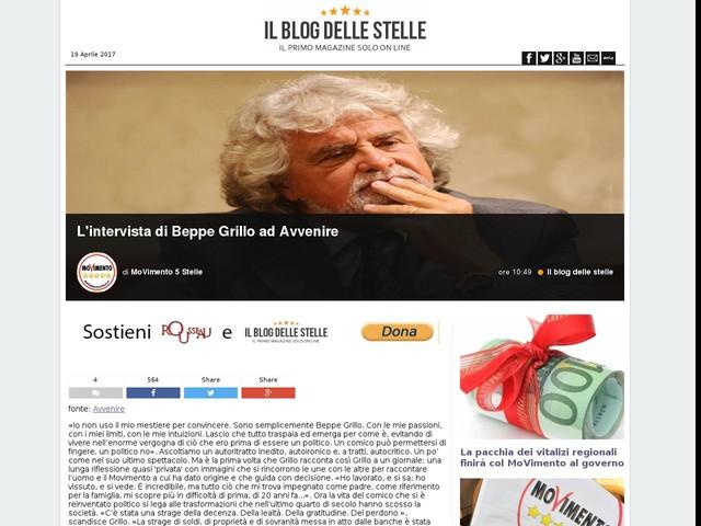 L'intervista di Beppe Grillo ad Avvenire