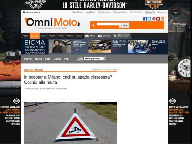 In scooter a Milano, cadi su strada dissestata? Occhio alla multa