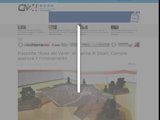 """Piazzetta """"Rosa dei Venti"""" di Marina di Sibari: Comune approva il rinnovamento"""