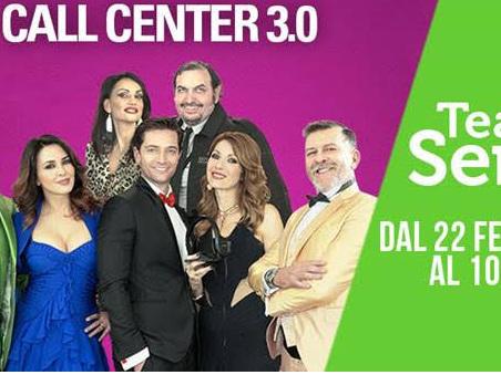 """Al Teatro de' Servi """"Call Center 3.0"""" con Franco Oppini, Milena Miconi, Luca Capuano, Karin Proia Pietro Genuardi, Roberto D'Alessandro e Cecilia Taddei"""