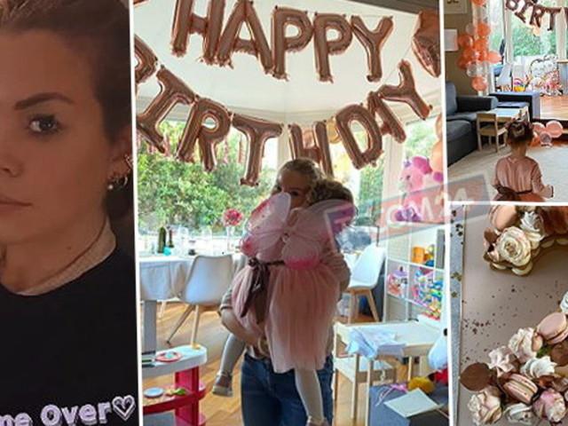 Costanza Caracciolo in festa per i due anni della figlia Stella