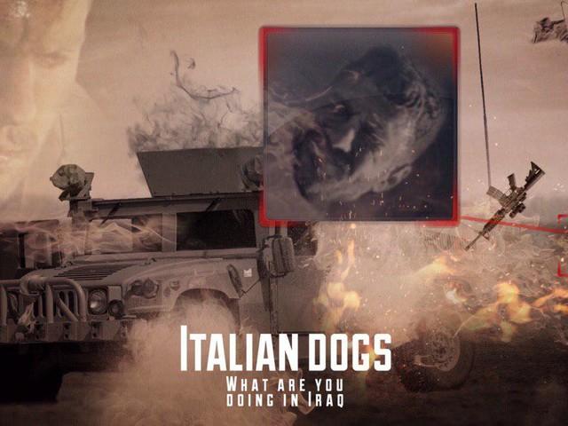 """Simpatizzanti dello Stato islamico: """"Cani italiani, cosa ci fate in Iraq?"""""""