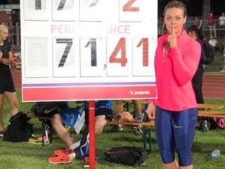 Sandra Perkovic scatenata a Bellinzona, 71,41 nel disco-Il Video