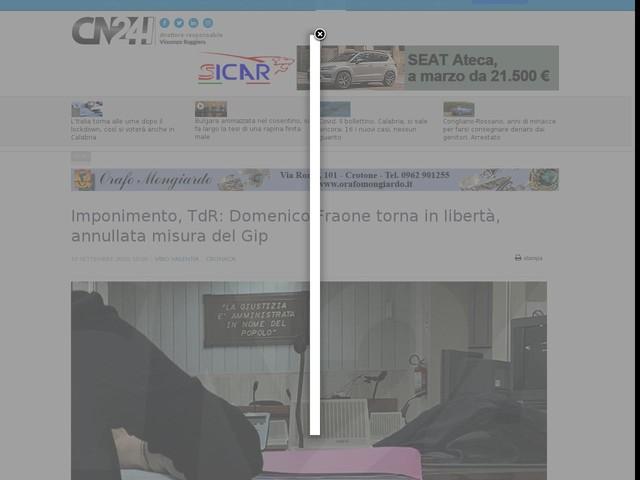 Imponimento, TdR: Domenico Fraone torna in libertà, annullata misura del Gip