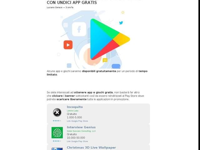 Continuano le promozioni su Play Store con undici app gratis