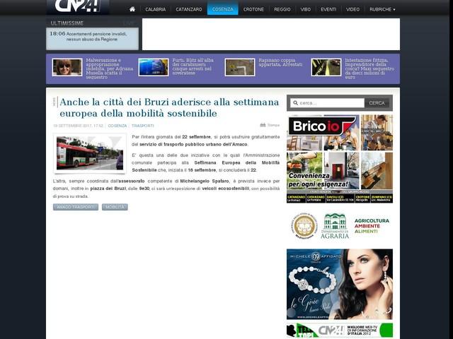 Anche la città dei Bruzi aderisce alla settimana europea della mobilità sostenibile