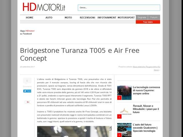 Bridgestone Turanza T005 e Air Free Concept