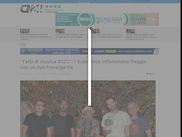 """""""Fatti di musica 2021"""": i Subsonica infiammano Reggio con un live travolgente"""