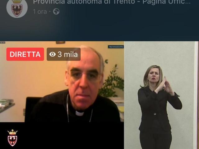 """+++ CALANO I CONTAGI, OGGi 9 MORTI +++ Lauro Tisi: """"Oggi le cattedrali sono le case di riposo e il Signore è lì dove si soffre di più"""""""