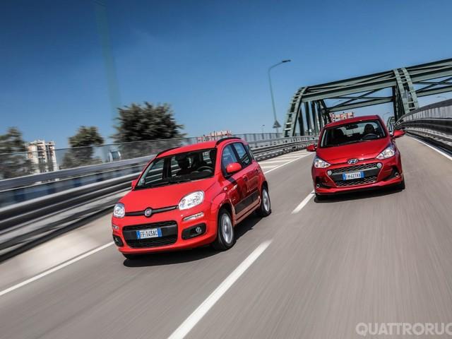 Fiat vs Hyundai - Sfida a tutto campo tra Panda e i10