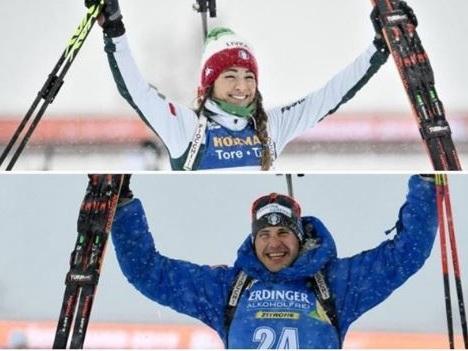 Il biathlon mondiale è azzurro: premiata ditta Wierer - Windisch due ori in due ore in Svezia