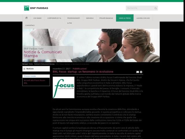 BNL Focus: startup: un fenomeno in evoluzione
