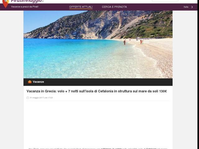 Vacanza in Grecia: volo + 7 notti sull'isola di Cefalonia in struttura sul mare da soli 130€