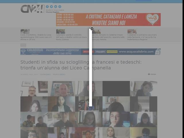 Studenti in sfida su scioglilingua francesi e tedeschi: trionfa un'alunna del Liceo Campanella