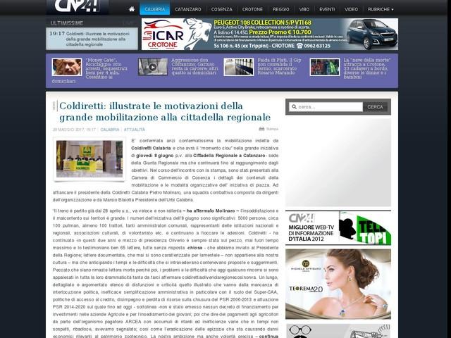 Coldiretti: illustrate le motivazioni della grande mobilitazione alla cittadella regionale