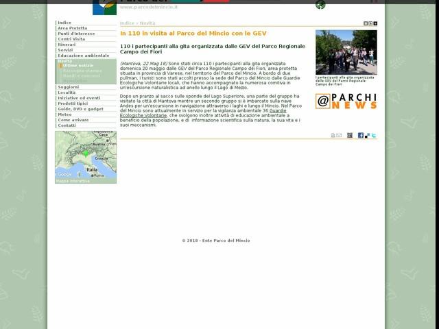 PR Mincio - In 110 in visita al Parco del Mincio con le GEV