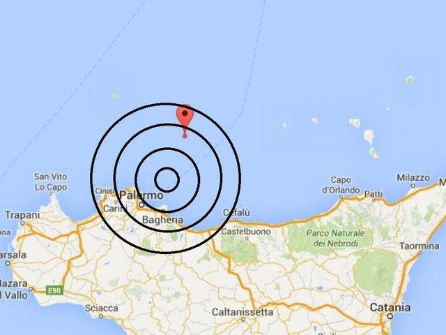Terremoto nel Palermitano, scossa di magnitudo 3.7