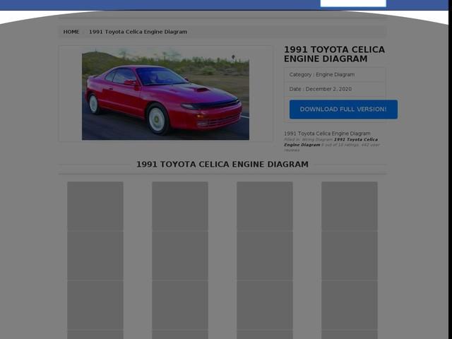 Toyota Celica Engine Diagram