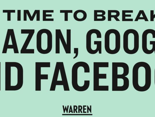"""Il piano per """"fare a pezzi""""Amazon, Google e Facebook (ma non Apple), spiegato"""